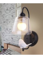 Creative bird wall lamp