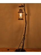 Bedroom wrought iron floor lamp