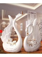Swan ceramic ornaments